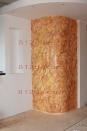 Имитация камня на гипрочной конструкции венецианской штукатуркой.