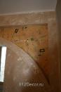 ob033 декоративное оформление арки, резьба по штукатурке
