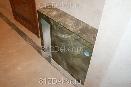perl0112пожарный ящик.металлическая дверца декорирована аэрографом под рисунок кафеля на торцах конструкции