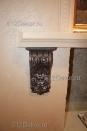 ob140 фрагмент декора холла гостиницы. Декор лепнины(полиуретана) под чугун - авторская техника