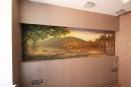 Роспись на стене в спальне (аэрограф+кисть). Подсветка выключена.