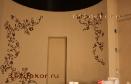 ob156 классическая декоративная штукатурка и роспись в ванной комнате